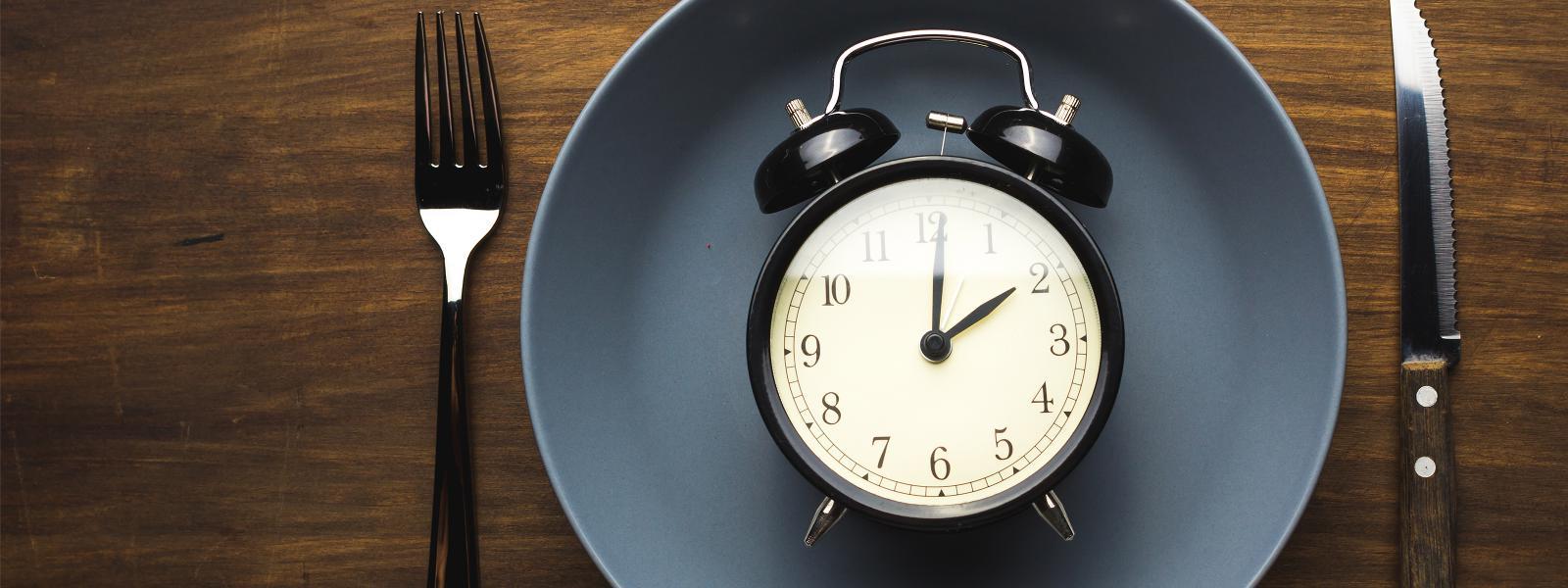 Clock representing fasting
